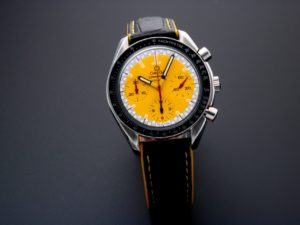 Lot #5615 – Omega Speedmaster Racing Schumacher Watch Yellow 3510.12.00 Omega Omega 3510.12