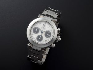 Lot #7730 – Cartier W31048M7 Pasha Chronograph Watch Chronograph Cartier W31048M7