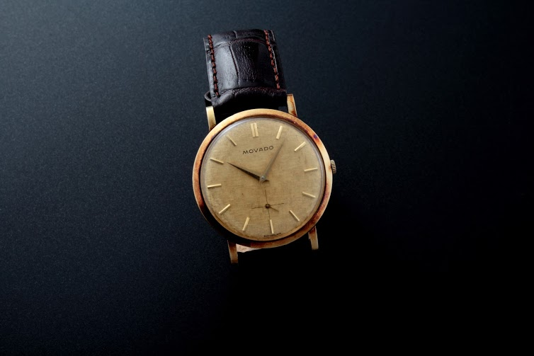 Lot#2198:  Yellow Gold Movado Watches [tag]