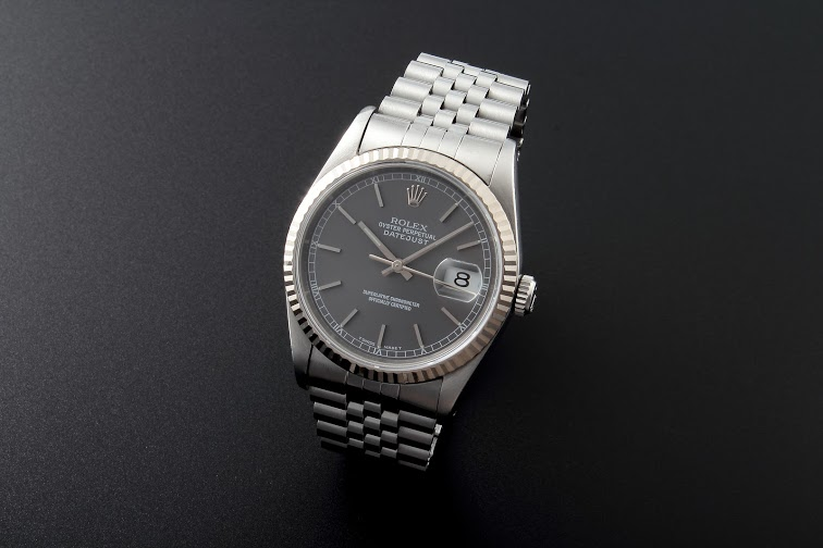 Lot#204 Rolex Datejust White Gold Bezel Watches [tag]