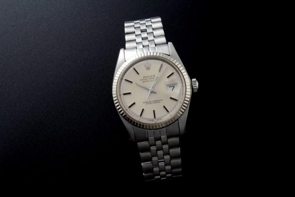 Lot#2175 Rolex Oyster Perpetual Steel Automatic White Gold Bezel