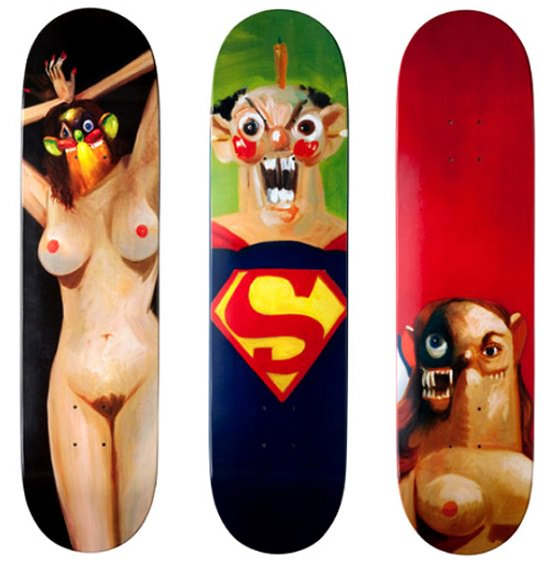Supreme x George Condo Skateboards Decks