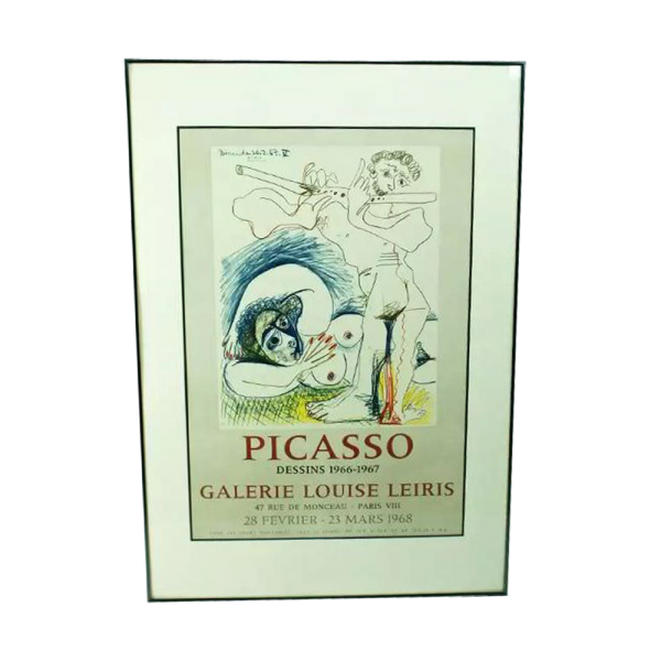 Pablo Picasso Galerie Louise Leiris for Dessins 1966