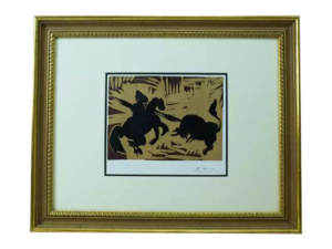 "Pablo Picasso ""The Goading of the Bull"" Linocut"