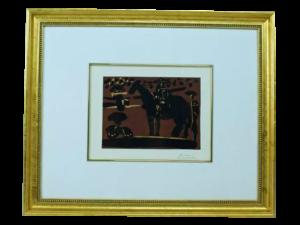 "Pablo Picasso ""Mounted Picador"" Linocut"