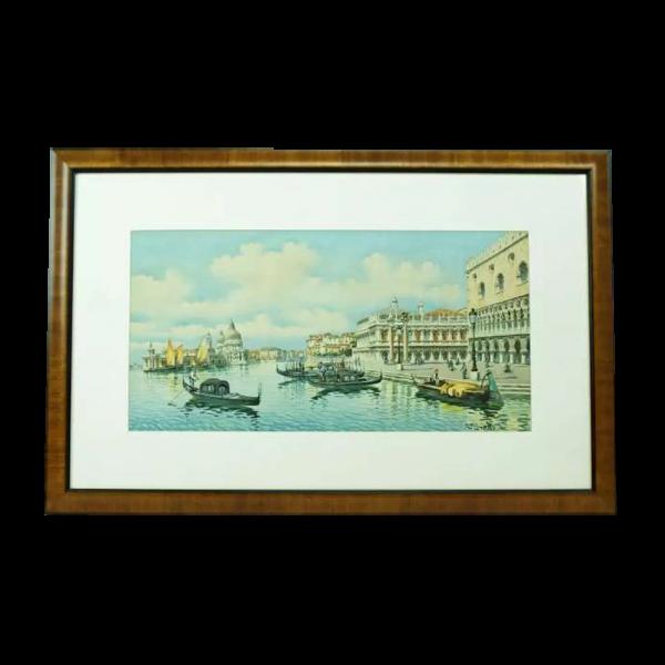Lot #2975 Piazza San Marco, Venice, Italy Gouache