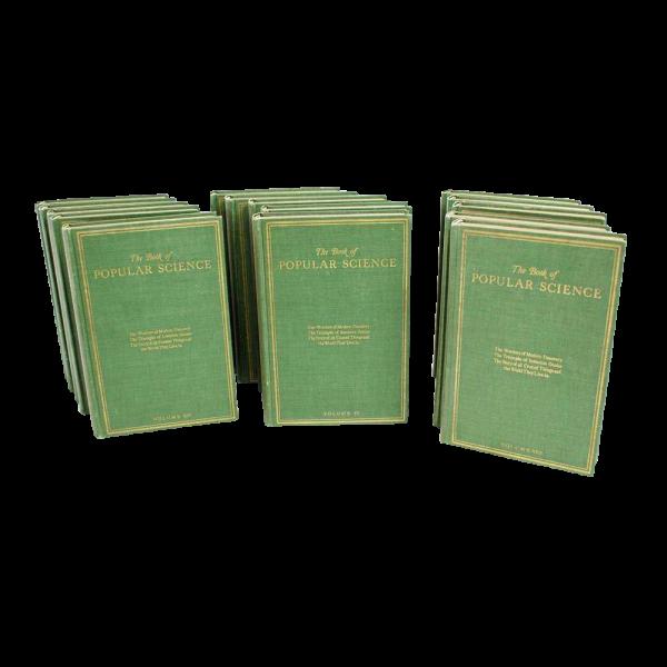 Vintage Set of Popular Science Books (15 Volumes)