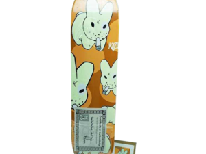 Signed Frank Kozik Smorkin Labbit Skateboard and P