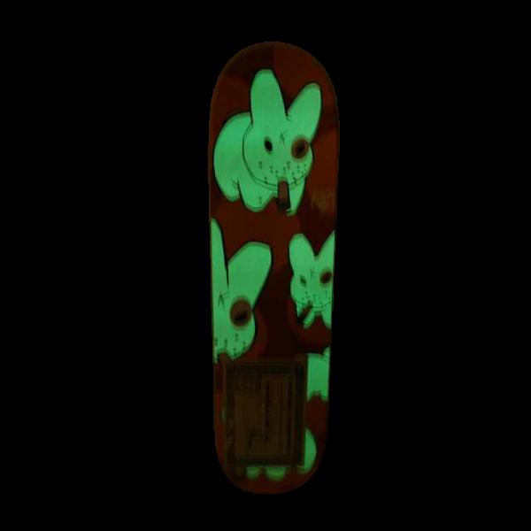 Signed Frank Kozik Smorkin Labbit Skateboard and P