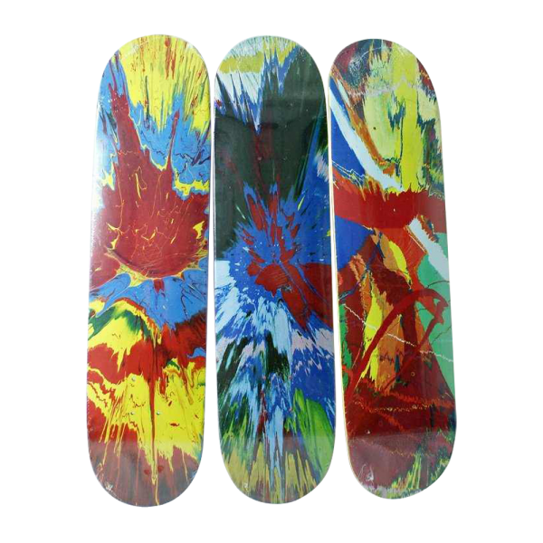 "2996_1 Rare Damien Hirst ""Spin"" Skateboards By Supreme, Se"