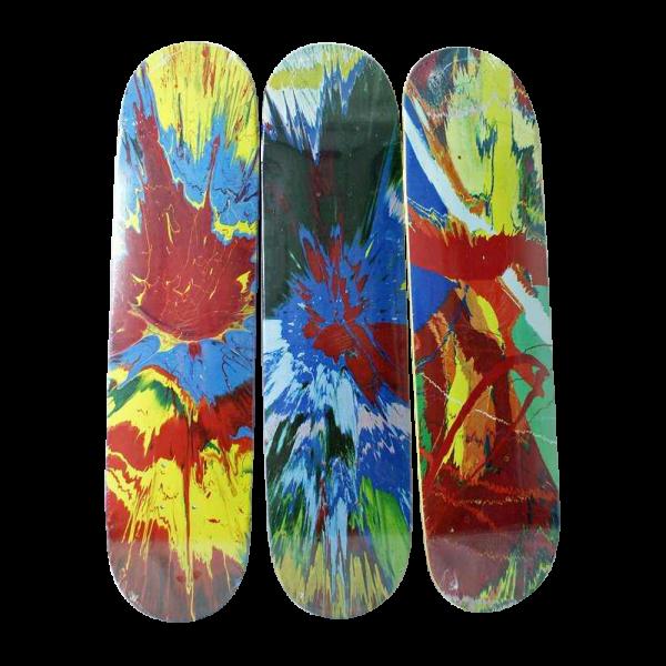 "Rare Damien Hirst ""Spin"" Skateboards By Supreme, Se"