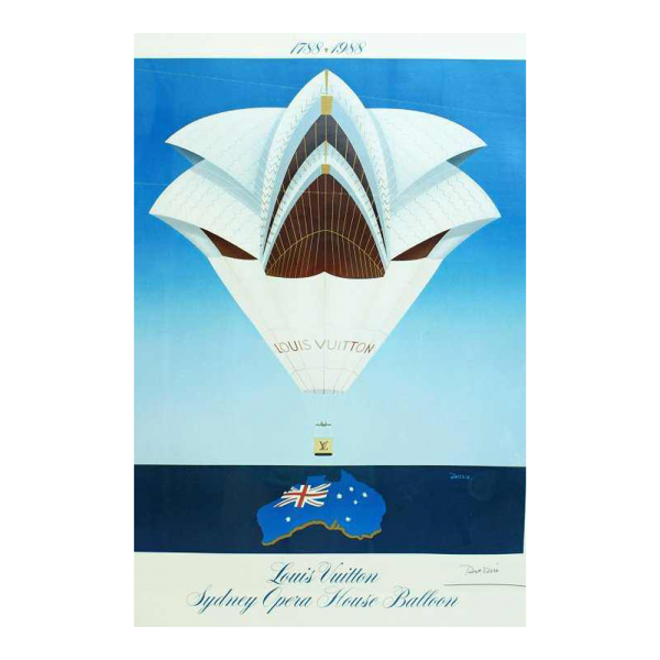 Lot #2998 Louis Vuitton Poster 1988 Sydney Opera House Balloon Razzia