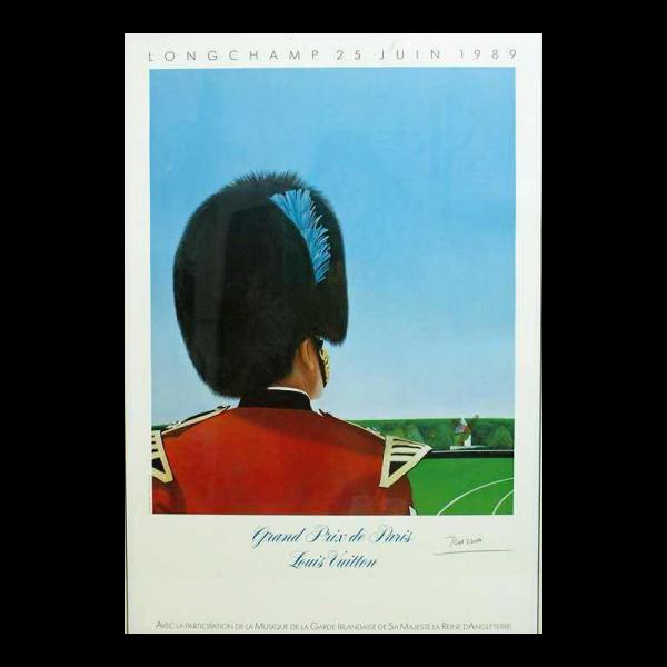 Lot #2999 Louis Vuitton Poster 1989 Grand Prix de Paris by Razzia