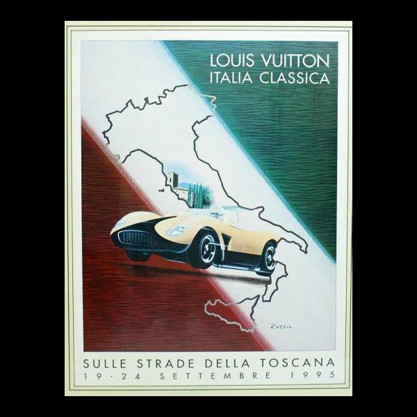 Lot #3000 Louis Vuitton Poster 1995 Italia Classic by Razzia