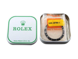 Rolex Gmt 16750 NOS Bezel Insert with Rolex Tin Box