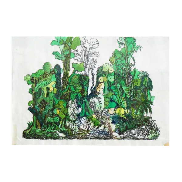 "Yutaka Sone ""Drawing for Jungle #1"" Ink and Waterco"