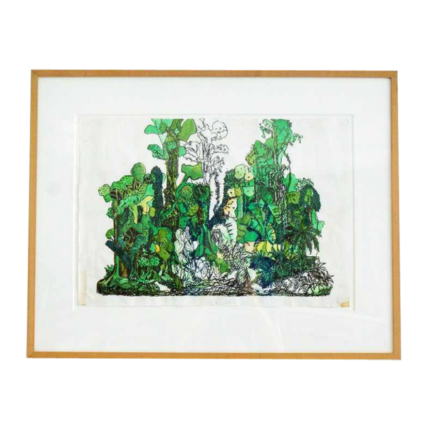 "Lot #3012 Yutaka Sone ""Drawing for Jungle #1"" Ink and Waterco"