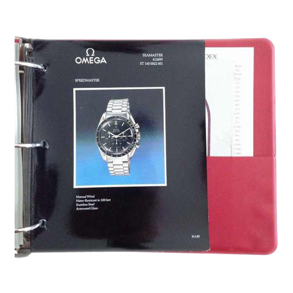 Lot #3238 Vintage Omega Master Dealer Watch Model Catalog