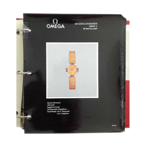 Lot #3064 Vintage Omega Master Dealer Watch Model Catalog