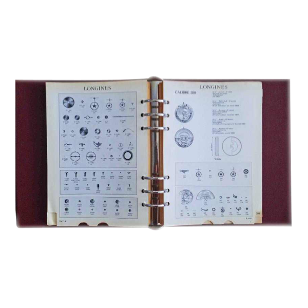 Lot #3066 Vintage Lot Of 2 Longines Master Watch Parts Catalogue