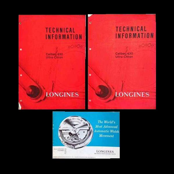 Vintage Lot Of 3 Longines Technical Caliber Brochures