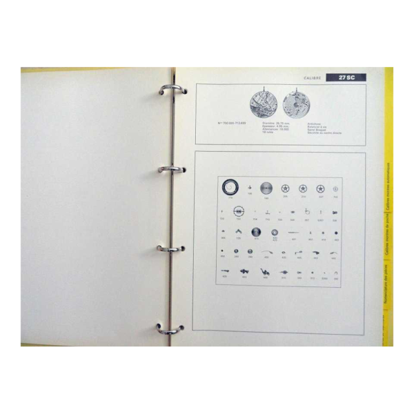 Lot #3074 Patek Philippe Master Parts Material Manual Catalogue