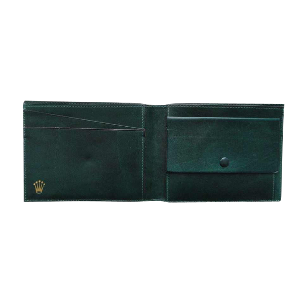Lot #3077 Swiss Leather Vintage Rolex Wallet Green 568503 Code
