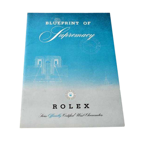 Lot #3330 Rolex Blueprint Of Supremacy Booklet Circa 1950