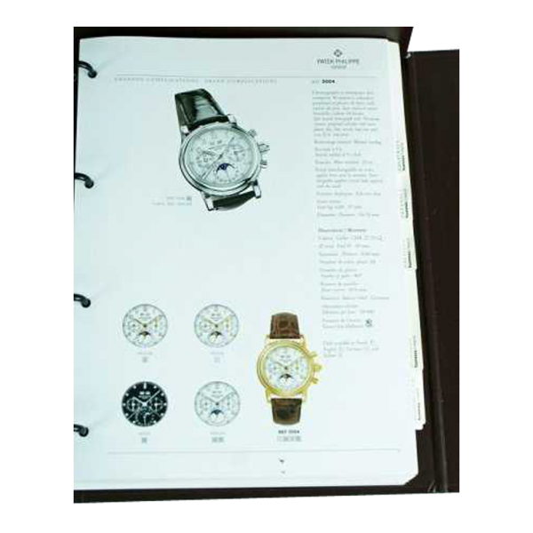 Lot #3080 Vacheron Constantin Geneve Dealer Master Catalog Binder