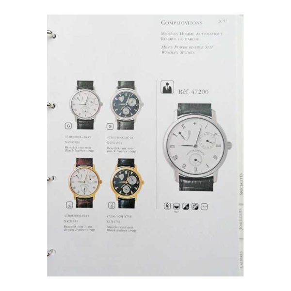 Vacheron Constantin Geneve Dealer Master Catalog Binder
