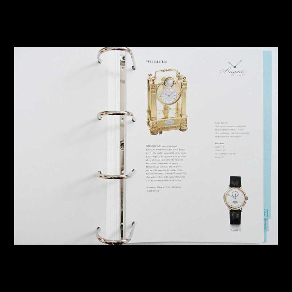 Lot #10061 Breguet Authorized Dealer Master Watch Catalog Binder Rare Accessories Breguet