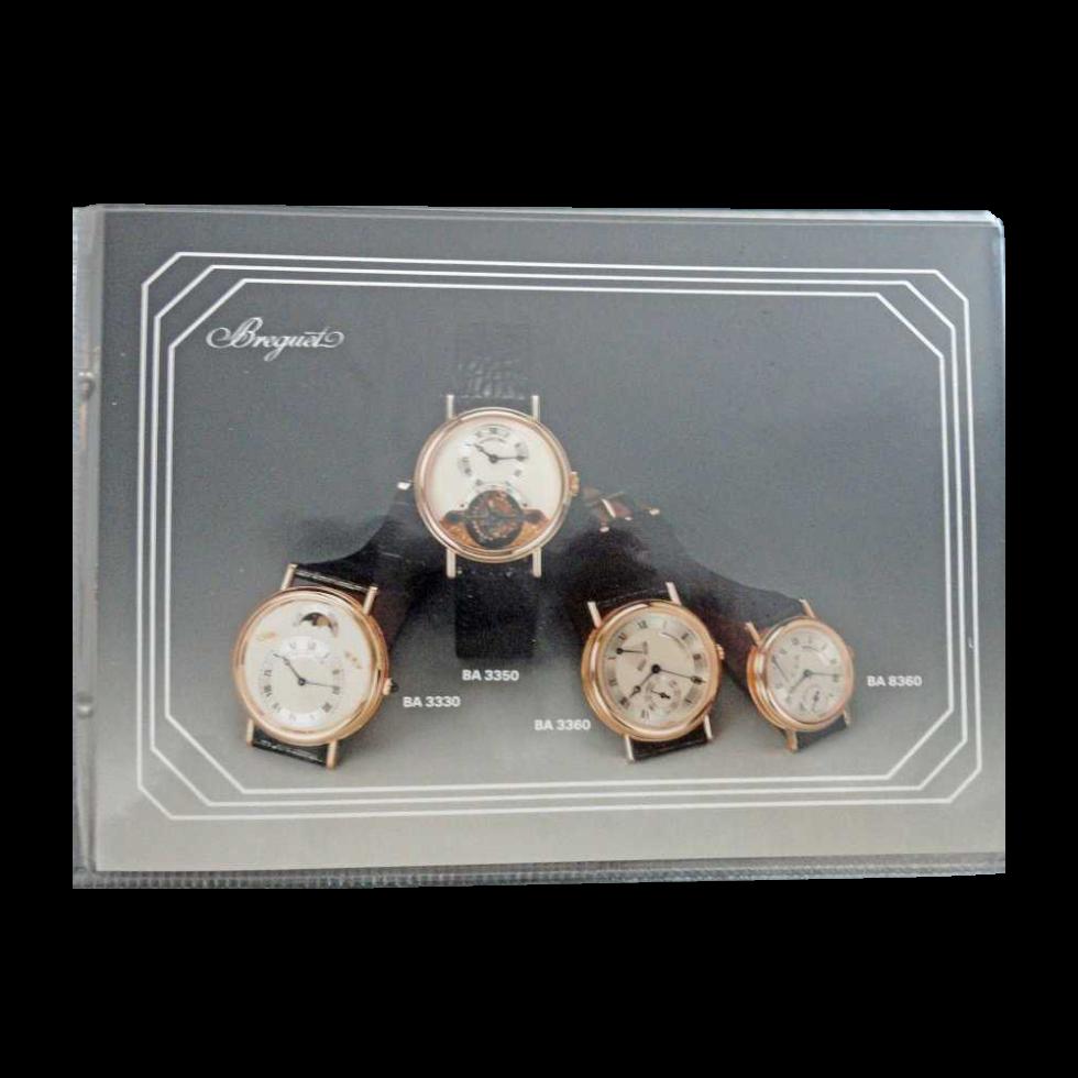 Lot #10063 Breguet Dealer Master Watch Catalog Binder 1980's Accessories Breguet