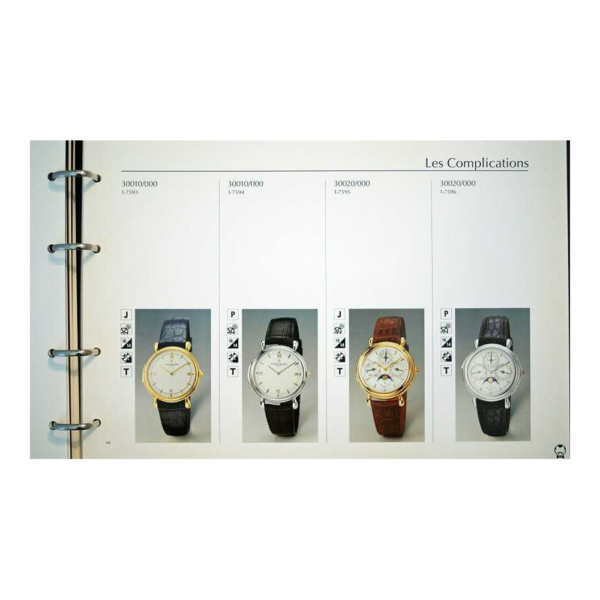 Vintage Vacheron Constantin Master Dealer Watch Catalog