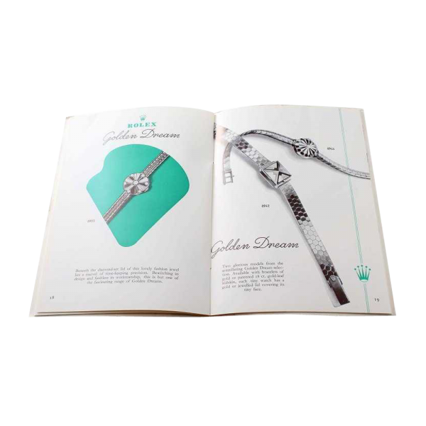 Lot #3092 Vintage Ladies Rolex Watch Catalog Brochure Circa 1955