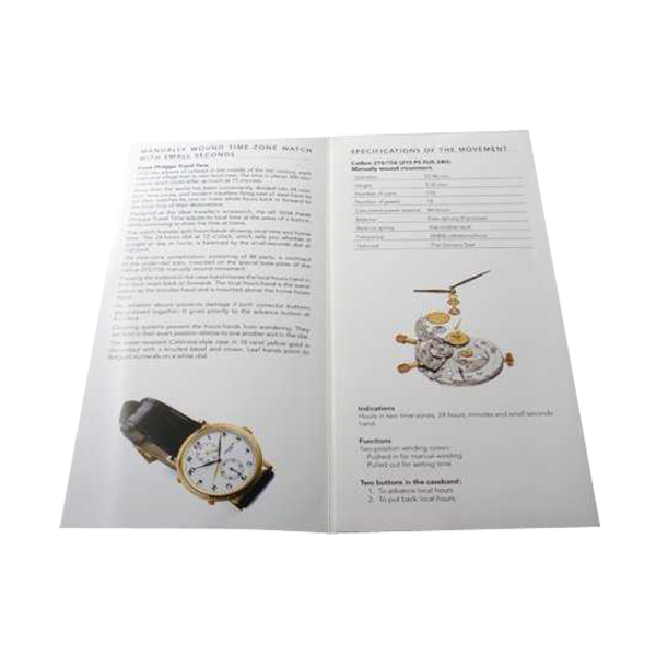 Lot #3173A Patek Philippe Travel Time 5034 Owners Manual