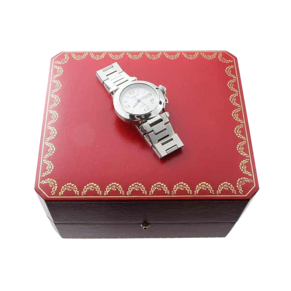 Lot #3133 Stainless Steel Cartier Pasha Automatic Watch Ref 2324