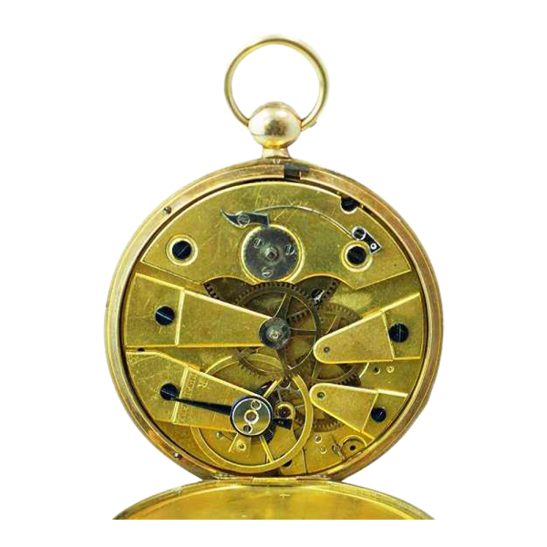 Lot #3137 Vintage 18k Yellow Le Roy Turkish Market Pocketwatch
