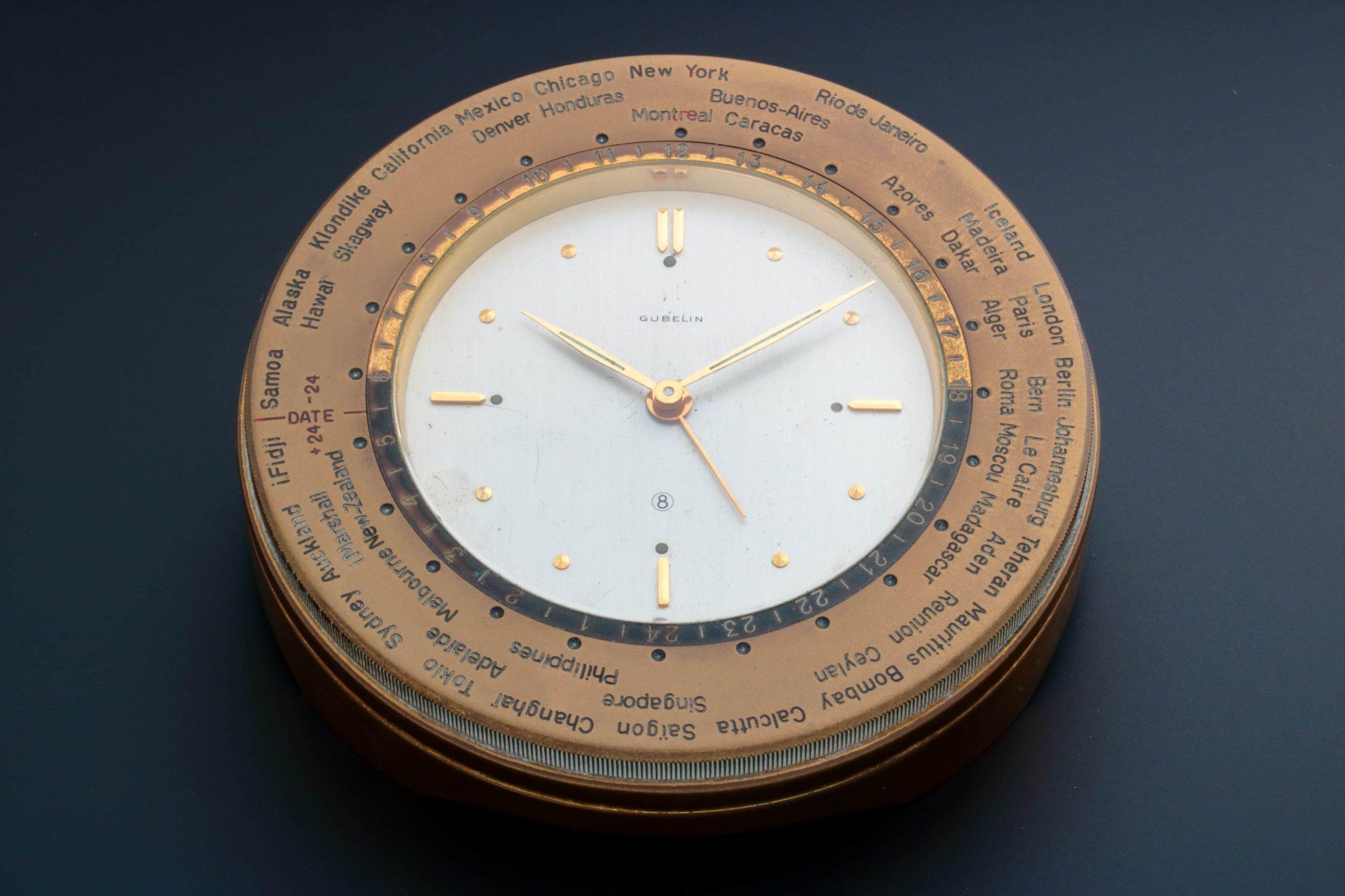 Gubelin World Time Alarm Desk Clock – Baer Bosch Auctioneers