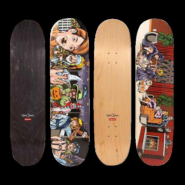 Sean Cliver Skateboard 2 Deck Set for Supreme New York