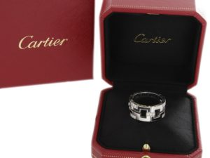 Lot #9644 – Cartier Baiser Dragon White Gold Diamonds Ring Jewelry Cartier