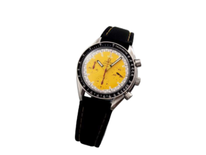 Stainless Steel Omega Speedmaster Yellow Schumacher