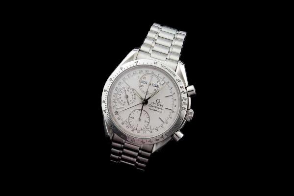 Lot #3155A Omega Speedmaster Triple Date Chronograph Watch
