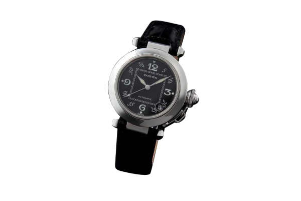 Lot #3167 Stainless Steel Cartier Pasha Automatic Watch