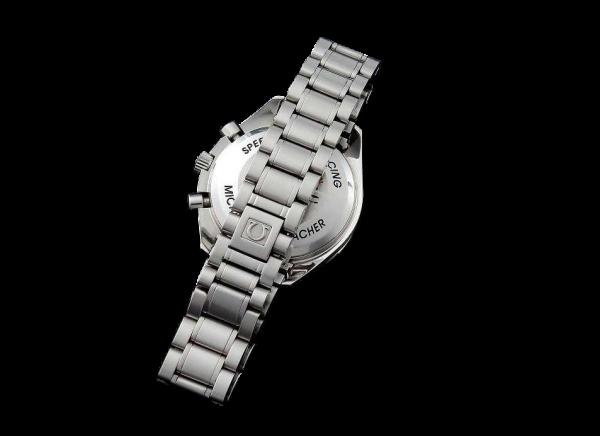 Lot #3172 Limited Omega Speedmaster Schumacher Carbon Fiber Watch
