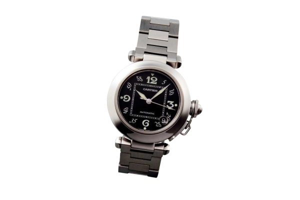 Stainless Steel Cartier Pasha Date Watch