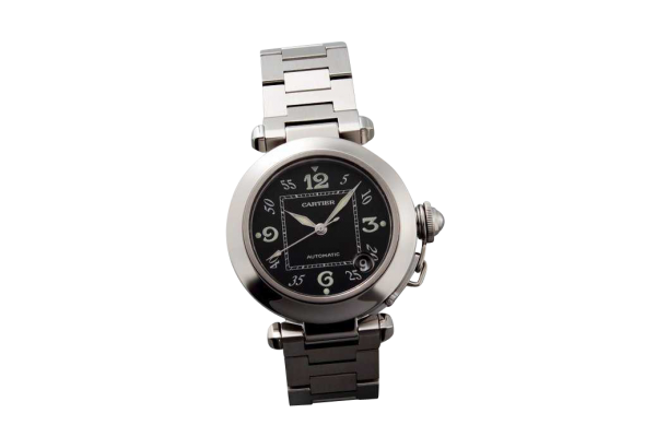 Lot #3175 Stainless Steel Cartier Pasha Date Watch