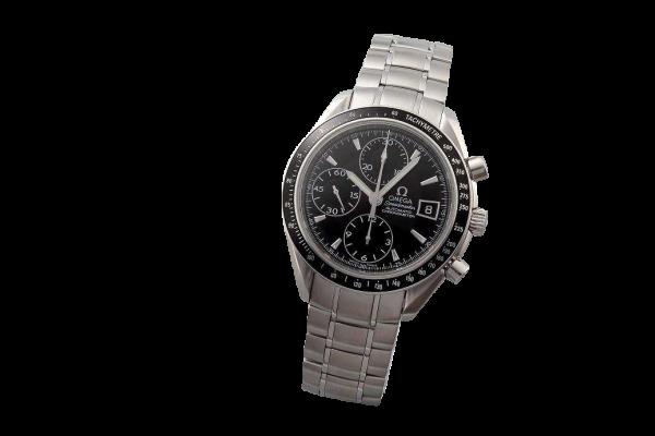 Stainless Steel Omega Speedmaster Date Chronograph