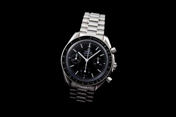 Men`s Steel Omega Speedmaster Reduced Moon Watch