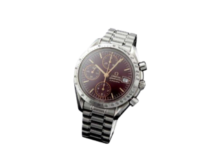 Special Edition Ox Blood Omega Speedmaster Date Watch