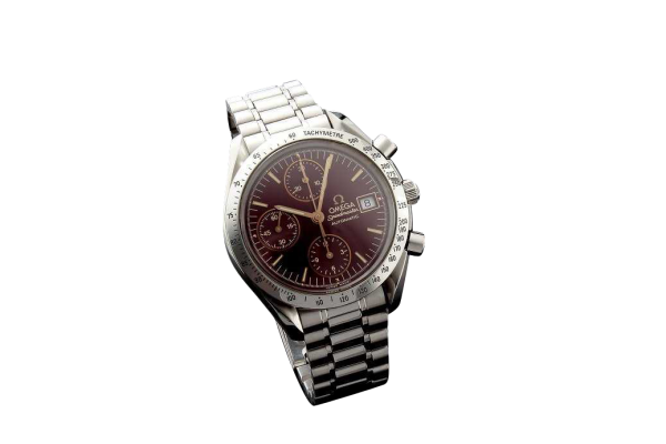 Lot #3186 Special Edition Ox Blood Omega Speedmaster Date Watch